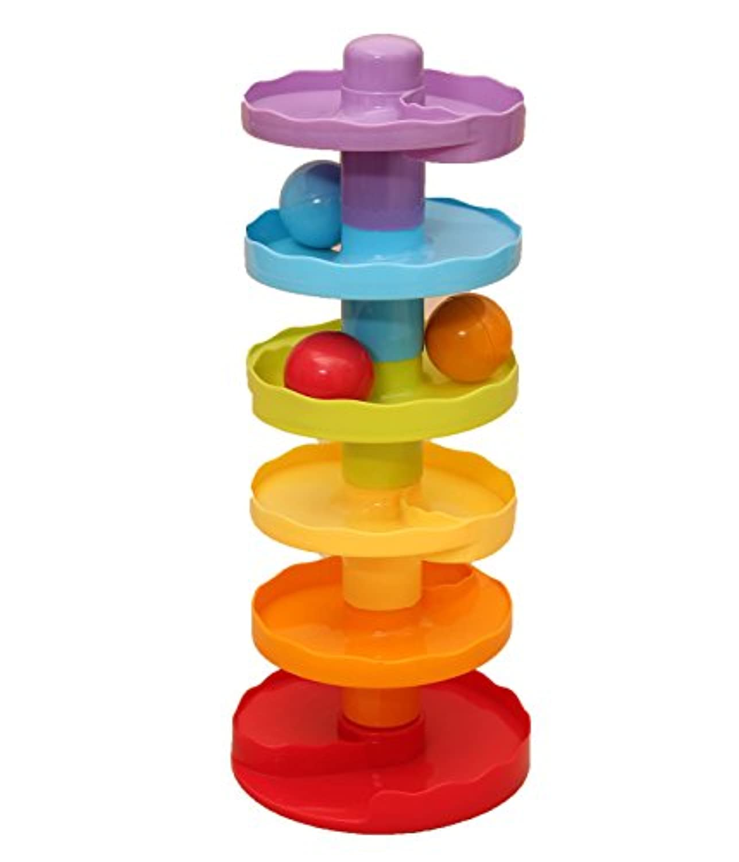 ベビーボールドロップ – 6タイヤロール再生タワー3 +ヶ月幼児のため