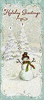 クリスマスギフトカード/マネーホルダー 8枚入り 雪だるま