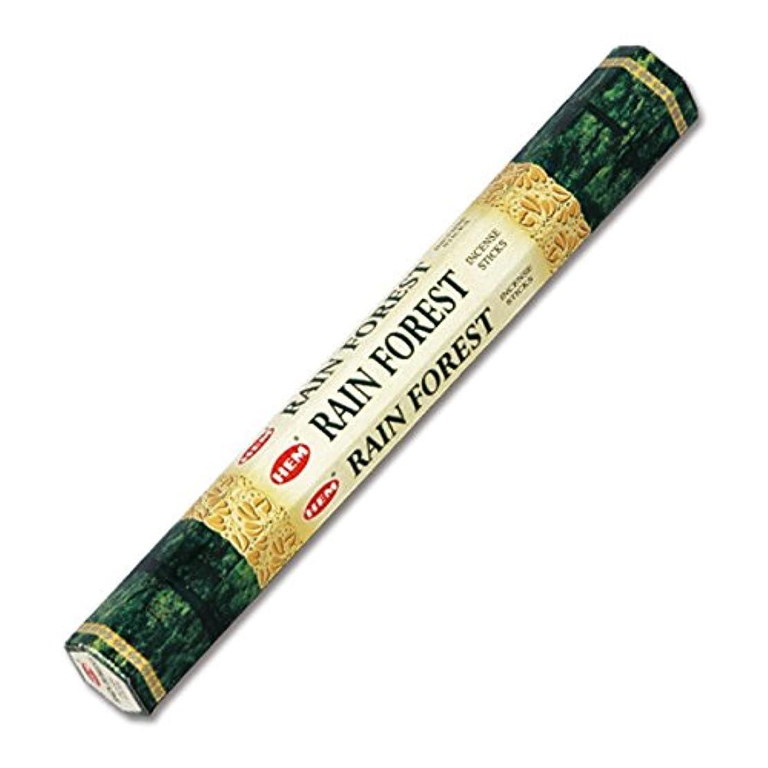 家畜月発送HEM(ヘム) レインフォレスト RAIN FOREST スティックタイプ お香 1筒 単品 [並行輸入品]
