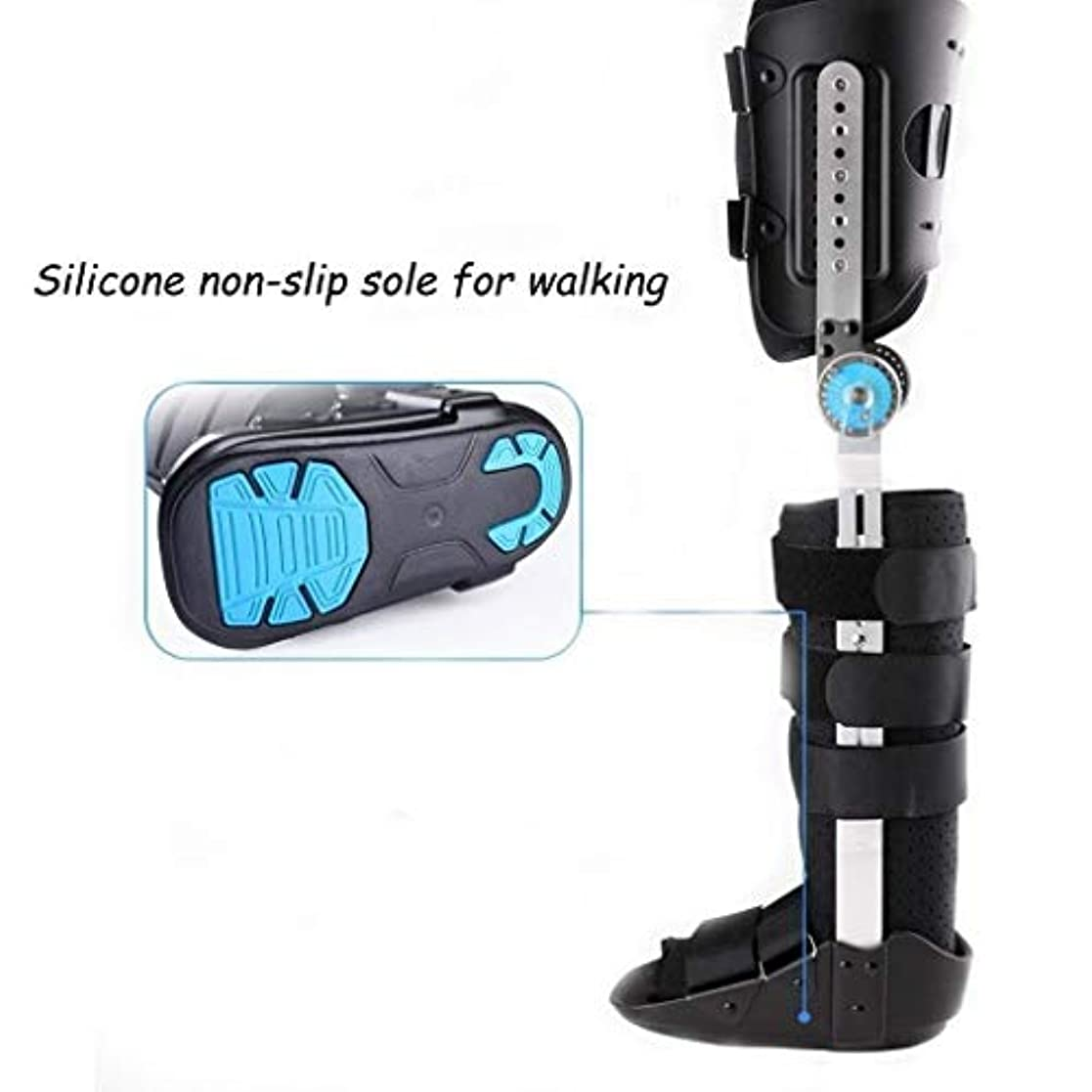 陪審不合格幻想調節可能な膝装具サポート-ポストヒンジ付き-ユニバーサルレッグサイズ (Color : As Picture, Size : Right-M)