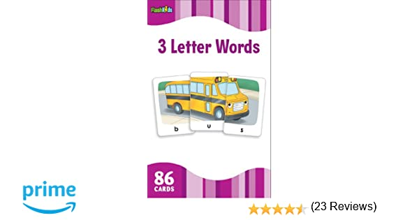 amazon 3 letter words flashkids flash cards inc sterling