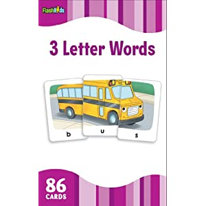 3 Letter Words (FlashKids Flash Cards)