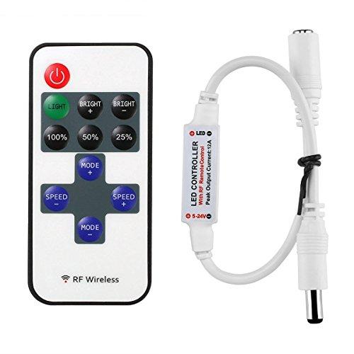 プラスチック製 ミニ RF ワイヤレス リモコン リモート コントローラー Led 調光 単色 コントローラ