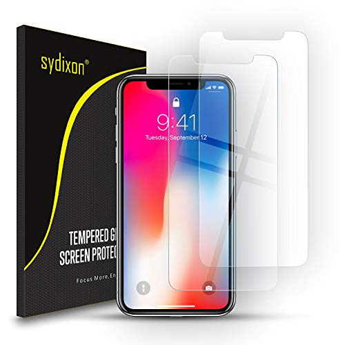 【2枚セット】iPhoneXS ガラスフィルム Sydixon iPhoneX ガラスフィルム 強化ガラス液晶保護フィルム【日本製素材旭硝子製】業界最高硬度9H/高透明/ 3D Touch対応 2.5Dラウンドエッジ加