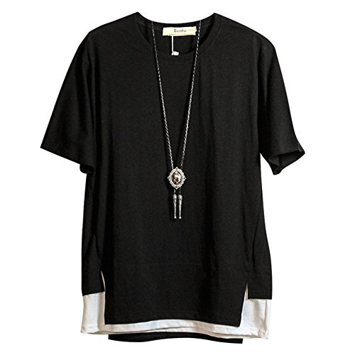 (フォセース) Fosys Tシャツ 半袖 カットソー メンズ ゆったり おしゃれ 薄手 涼しい カジュアル オールシーズン ネックレス付