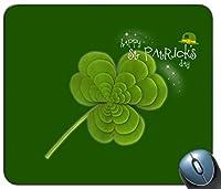 印刷防滑ゴムは、マウスパッド、マウスパッド、マウスパッド、緑三葉草の図柄マウスパッドを快適にカスタマイズします。