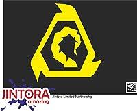 JINTORA ステッカー/カーステッカー - Brotherhood of NOD - NODの兄弟姉妹 - 109x99 mm - JDM/Die cut - 車/ウィンドウ/ラップトップ/ウィンドウ - 黄色
