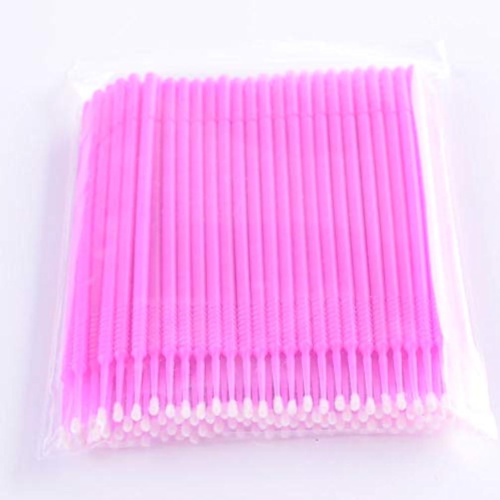 引く経験密輸PLATINA LASH マイクロスティック 100本入り マイクロブラシ 使い捨て極細綿棒アプリケーター まつげエクステ用 (Fine/Pink)