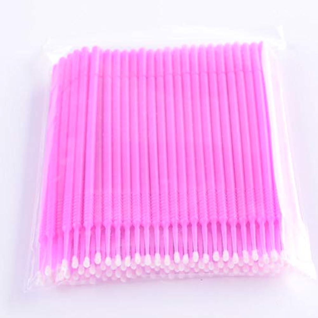 きつく不機嫌そうなパークPLATINA LASH マイクロスティック 100本入り マイクロブラシ 使い捨て極細綿棒アプリケーター まつげエクステ用 (Fine/Pink)