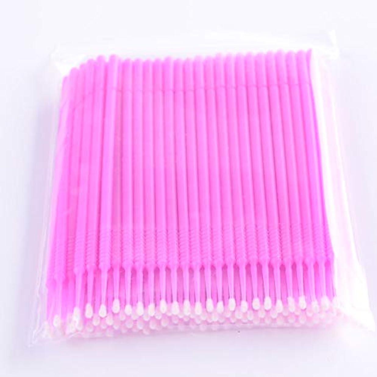 弱点幅ブートPLATINA LASH マイクロスティック 100本入り マイクロブラシ 使い捨て極細綿棒アプリケーター まつげエクステ用 (Fine/Pink)