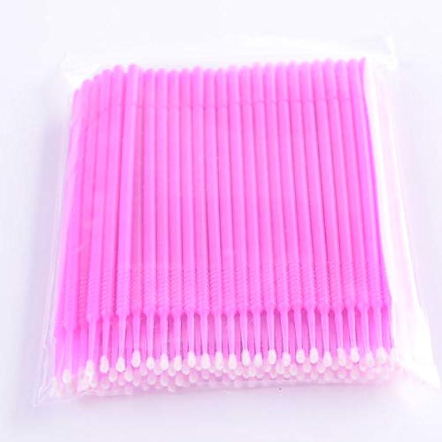 断線きしむ住むPLATINA LASH マイクロスティック 100本入り マイクロブラシ 使い捨て極細綿棒アプリケーター まつげエクステ用 (Fine/Pink)