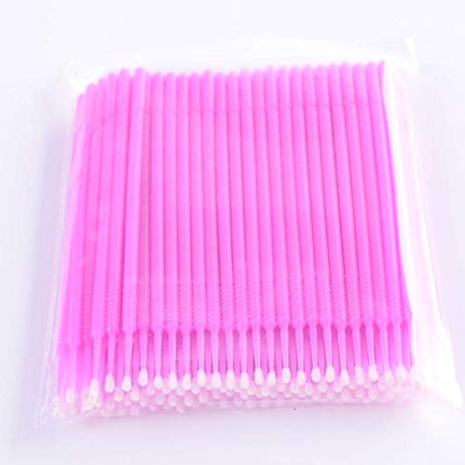 治世ちょっと待って階段PLATINA LASH マイクロスティック 100本入り マイクロブラシ 使い捨て極細綿棒アプリケーター まつげエクステ用 (Fine/Pink)