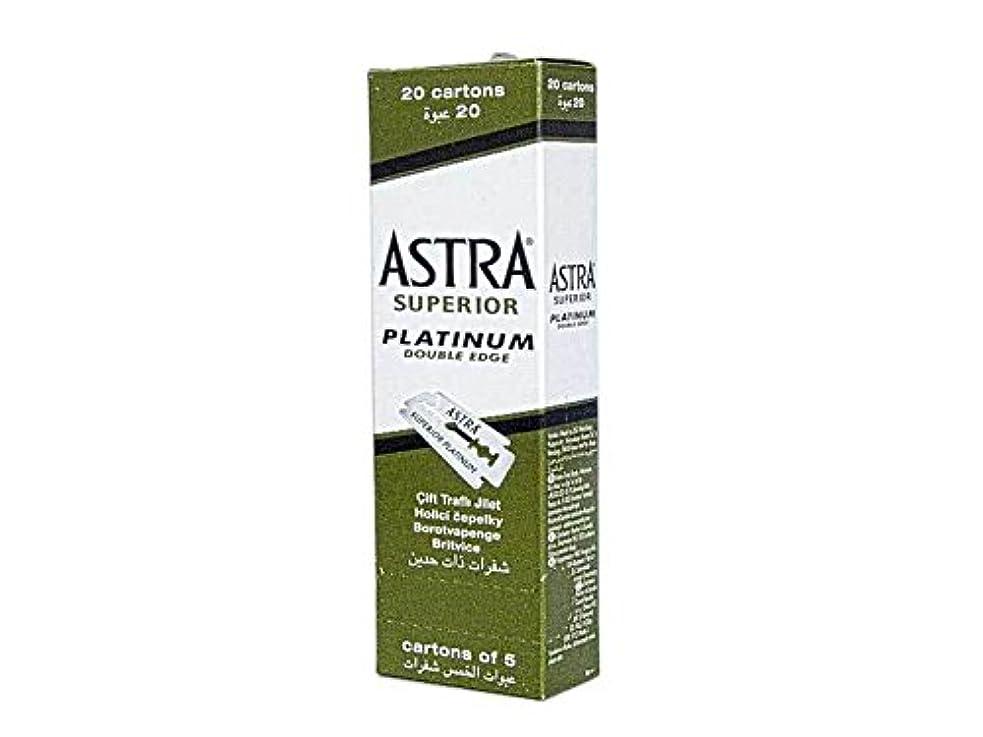 同情的ピック塗抹Astra Superior Platinum (アストラ 優れたプラチナ) 両刃替刃 100個入り (5 x 20) [並行輸入品]