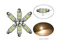 NJYTouch 7種類の色で6 X 38ミリメートル6SMD 5630の211ウォームホワイトフェストゥーンドーム地図インテリアLED電球CANバス