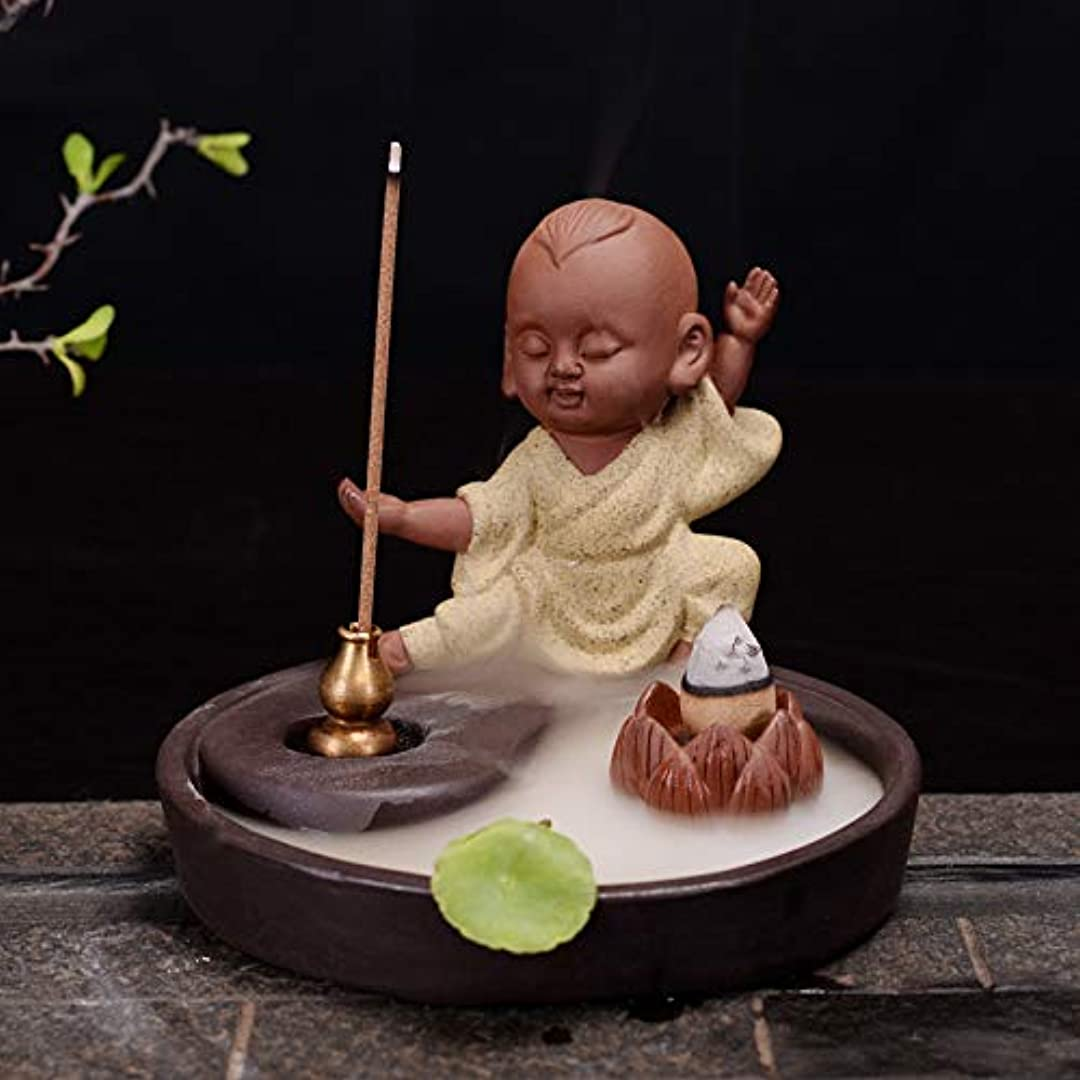 良心的綺麗な突然の滝香キャンドルホームデコレーション像置物返香バーナーホームデコレーション11.6 * 9.2センチ