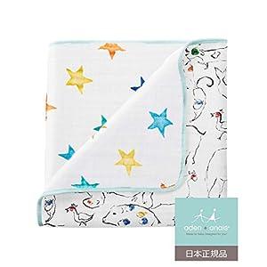 aden + anais (エイデンアンドアネイ) 【日本正規品】 モスリンコットン ミニ・ドリーム・ブランケット(カラーポップ) color pop mini dream blanket 6082