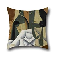18 X 18 Inches / 45 By 45 Cm Oil Painting Juan Gris - The White Tablecloth Pillowcase ,twin Sides Ornament And Gift To Seat,divan,saloon,kids Girls,wedding,birthday