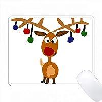 面白いルドルフ赤い鼻のトナカイクリスマスアート PC Mouse Pad パソコン マウスパッド