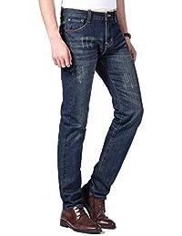 ジーンズ メンズ デニムパンツ ジーパン (エコ.キュー) Echo.Q ストレッチ 大きいサイズ ブランド スキニー ストレート ストレートシリーズ パンツ ロングパンツ スキニーパンツ  カジュアル ストリート
