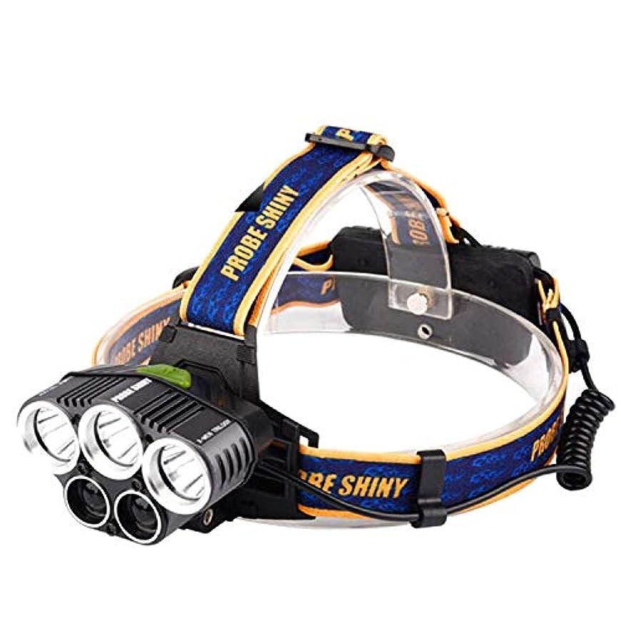 統治可能ピジンレイアウト5LED 3T6まぶしい充満ヘッドライト、防水屋外の夜釣極度のヘッドライト