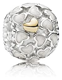 PANDORA Charm Cutout Love Beaded Bracelet