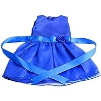 Dovewill 全10色選択 ファッション 布製 人形服 レース ノースリーブドレス ワンピース ドレス 18インチアメリカガールドール人形用 セット - #5
