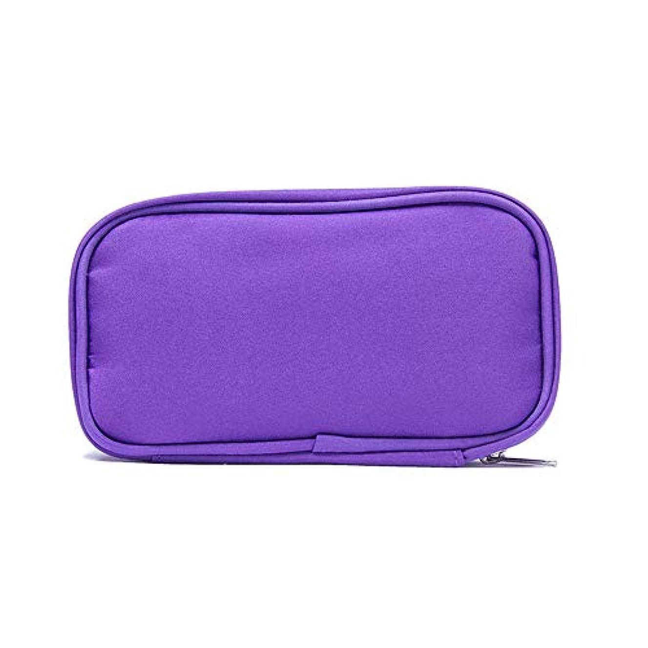 平凡代わりに前兆精油ケース 10本のボトル用エッセンシャルオイルの収納ケースは、10?15mlのバイアル3色を保持します 携帯便利 (色 : 紫の, サイズ : 17.5X6X10CM)