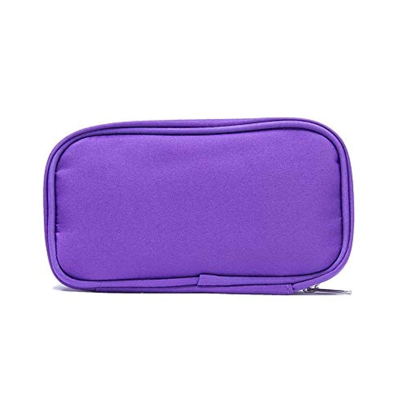 教育学典型的な反射精油ケース 10本のボトル用エッセンシャルオイルの収納ケースは、10?15mlのバイアル3色を保持します 携帯便利 (色 : 紫の, サイズ : 17.5X6X10CM)