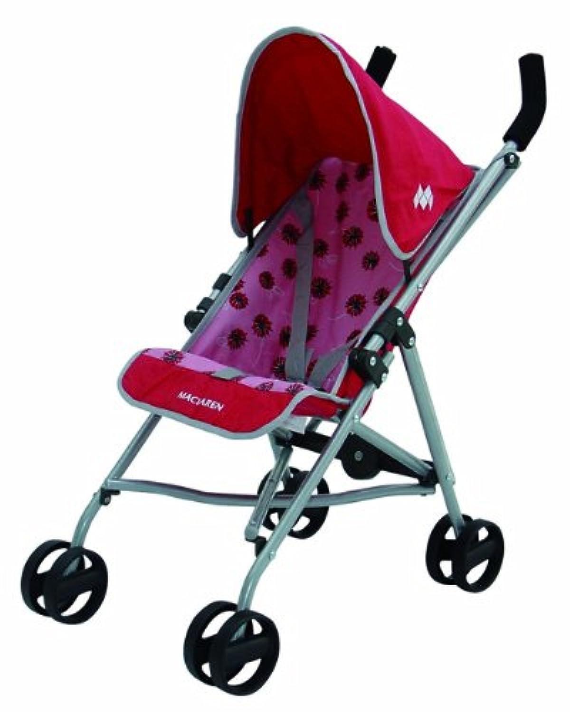 Maclaren(マクラーレン) お人形用 ベビーカー トイストローラー ドールバギー ピンク×レッド Junior Quest Pink 71002 並行輸入品