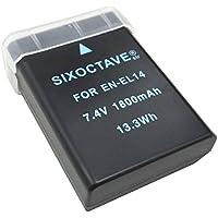 [str] 大容量 1800mah EN-EL14a en-el14a en-el14EN-EL14 ニコン一眼レフカメラ 互換バッテリー 一眼レフ:D3100/D3200/D3300/D3400/D5100/D5200/D5300/Df/CoolPix P7000/P7100/P7700