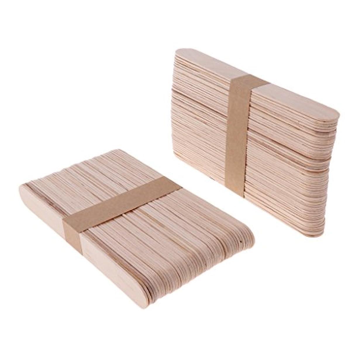 壊れた力学低下木材スティック 脱毛 ワックス用 体毛除去 ウッド ワックススパチュラ 便利 200個 2サイズ - L