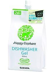 ハッピーエレファント 食洗機用 ジェル洗剤 詰替用 800ml