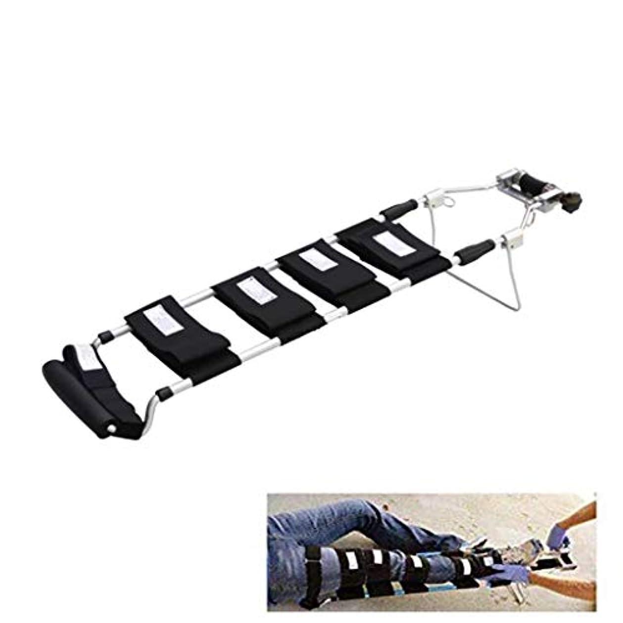 対角線花靴下脚牽引装置整形外科、牽引副木、調整可能な足首ストラップ伸縮設計、脚緊急レトラクタ付き (Color : Children)