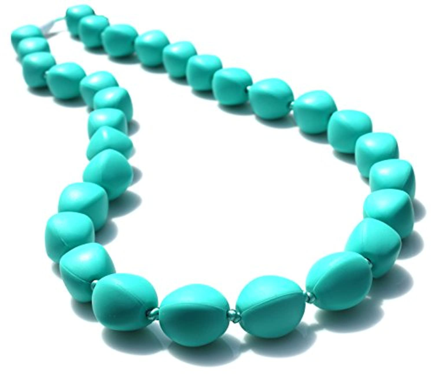 Peacemaker Jewelry Olive Bead Teething Necklace (Turquoise) by Peacemaker Jewelry
