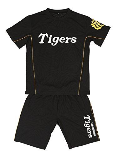 AMET(アメット) 阪神タイガース ドライハーフセットアップ ドライ素材 Tシャツ ハーフパンツ 上下セット プロ野球グッズ HTHP-16 ブラック XL
