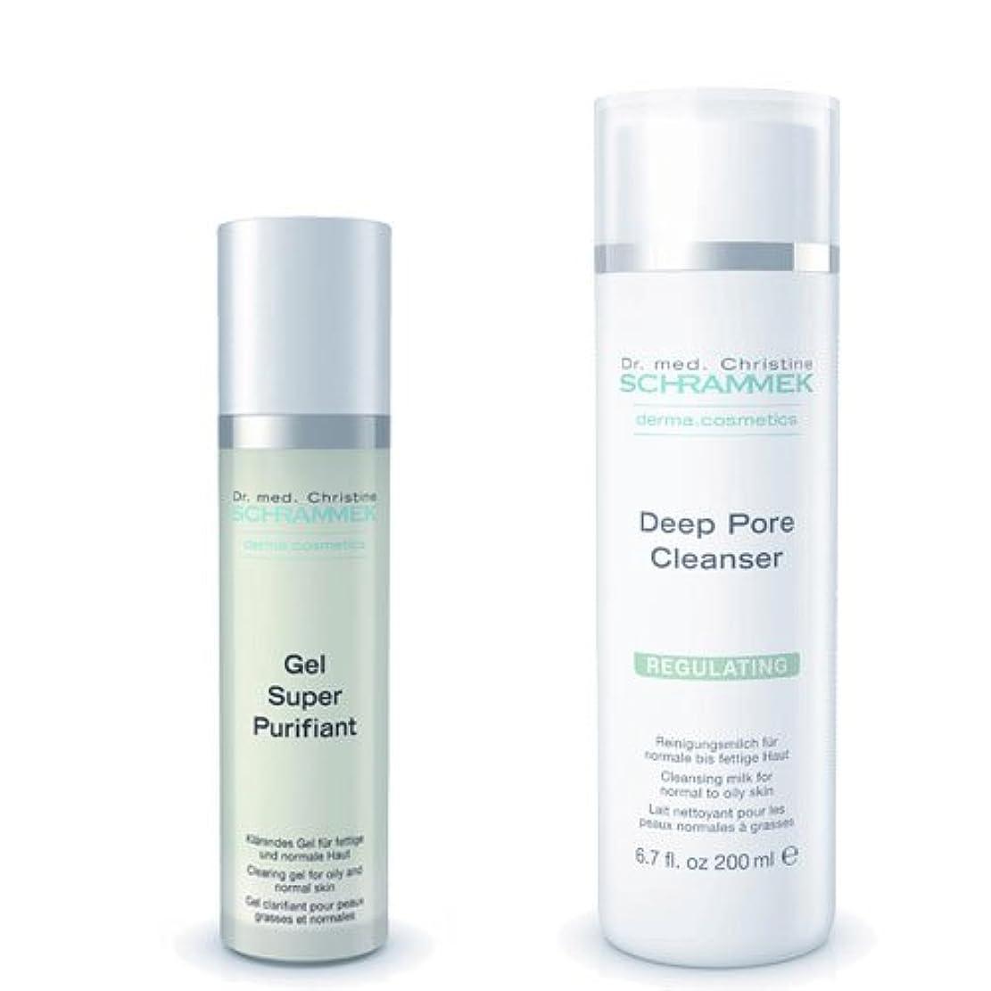 オープナー害の慈悲でシュラメック 「GREEN PEEL 洗顔2点セット(脂性肌用)」 ディープポアクレンザー&ジェルスーパーピュリフィアント