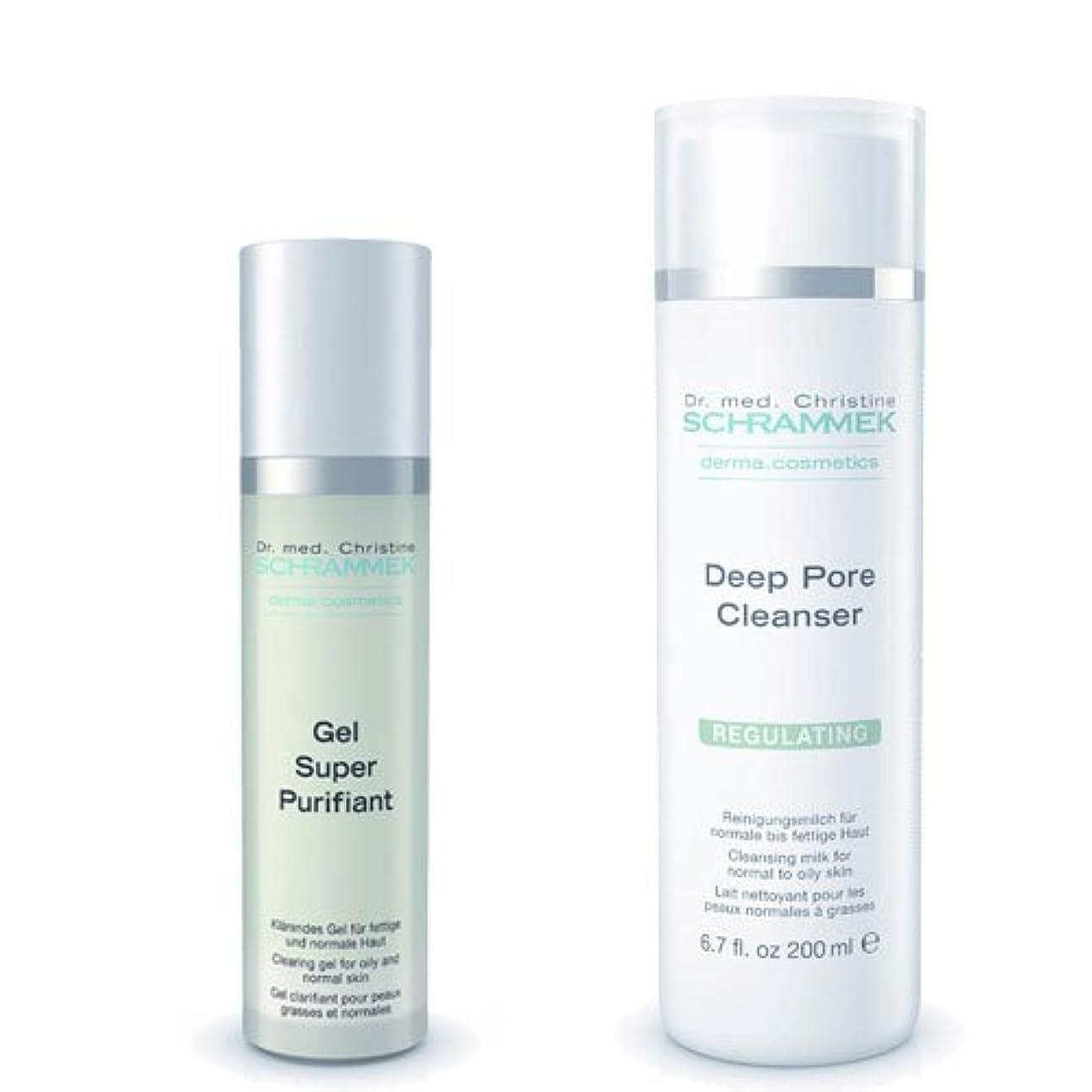第五迷信ループシュラメック 「GREEN PEEL 洗顔2点セット(脂性肌用)」 ディープポアクレンザー&ジェルスーパーピュリフィアント
