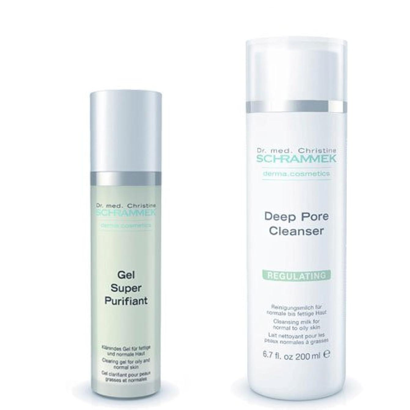 安いです包囲相対サイズシュラメック 「GREEN PEEL 洗顔2点セット(脂性肌用)」 ディープポアクレンザー&ジェルスーパーピュリフィアント