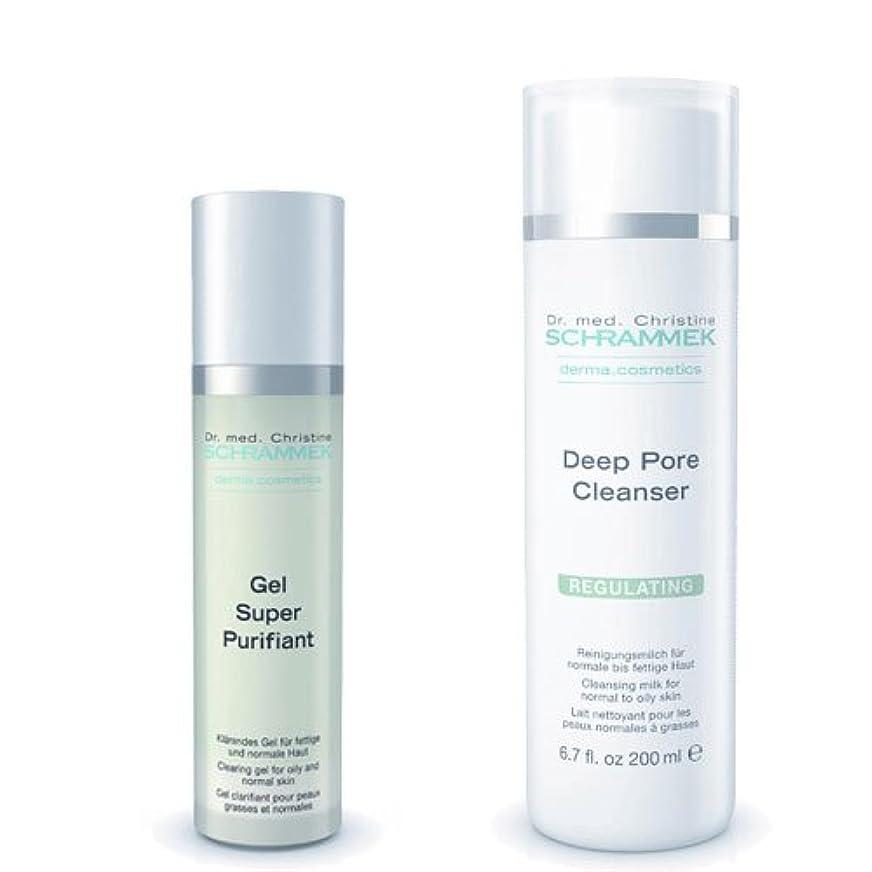沈黙余韻相関するシュラメック 「GREEN PEEL 洗顔2点セット(脂性肌用)」 ディープポアクレンザー&ジェルスーパーピュリフィアント