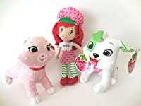 Strawberry Shortcake Classic Medium Plush人形10インチとカスタードCat Ant Pupcake犬6インチ