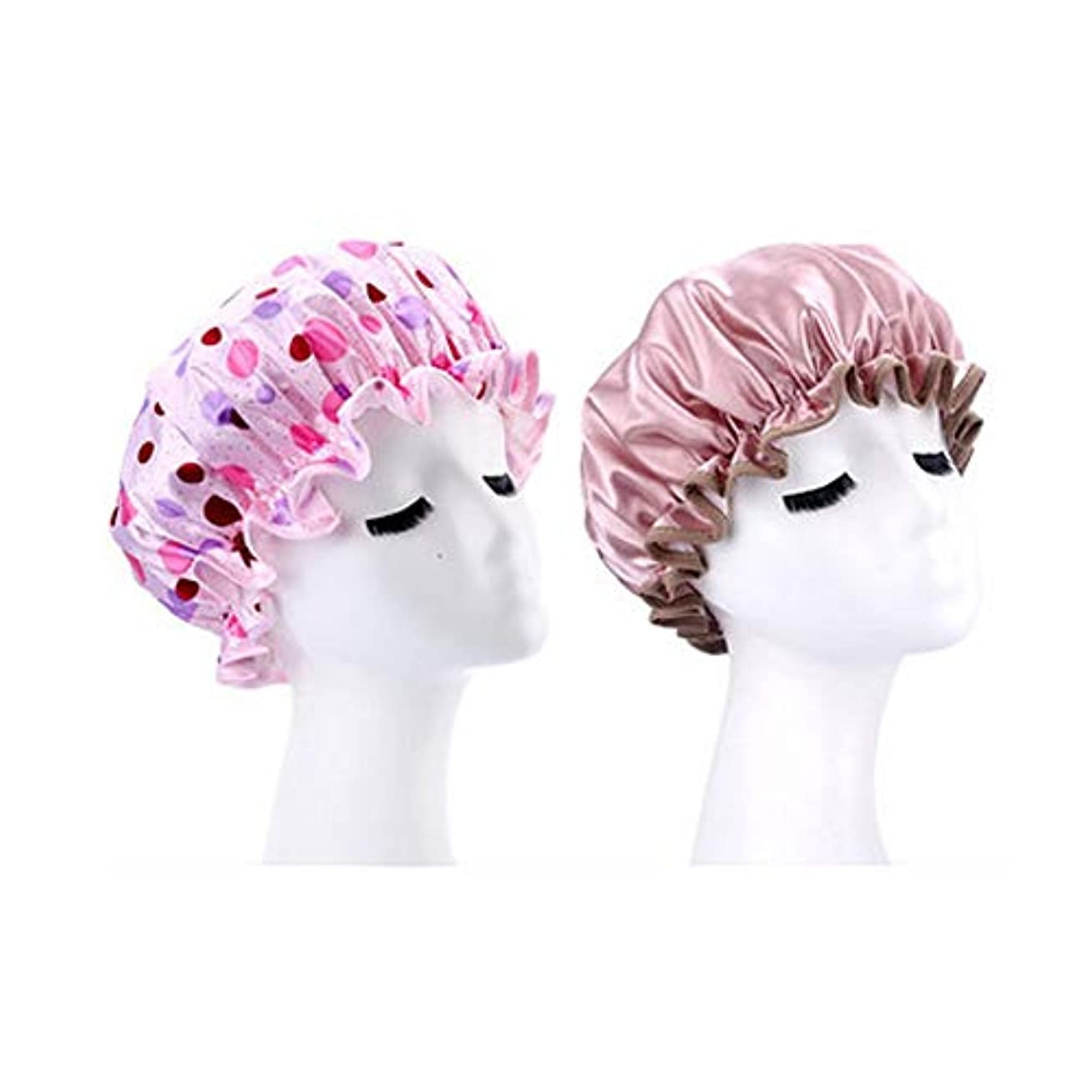 精神駐地アーティストシャワーキャップ、レディースシャワーキャップレディース用のすべての髪の長さと太さのデラックスシャワーキャップ - 防水とカビ防止、再利用可能なシャワーキャップ。 (Color : 3)