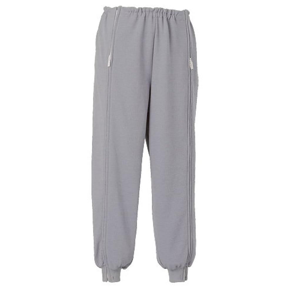 製作小数ブランド名エンゼル スクエアニット 裾リブ付き全開ズボン グレー LLサイズ