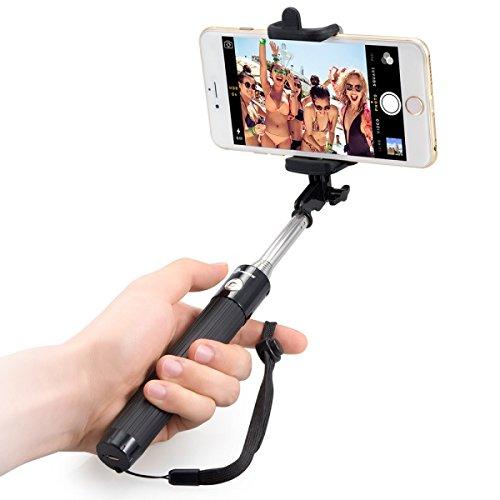 TaoTronics 自撮り棒 セルカ棒 Bluetooth無線 シャッターボタン付き iPhone/Android TT-SH10
