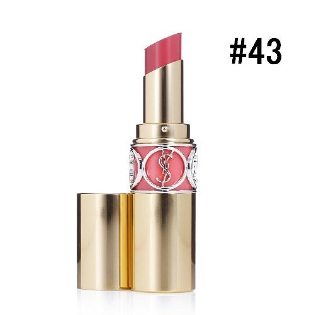 成長する暴動兵器庫イヴサンローラン(Yves Saint Laurent) ルージュ ヴォリュプテ シャイン #43 ROSE RIVE GAUCHE 4.5g [並行輸入品]