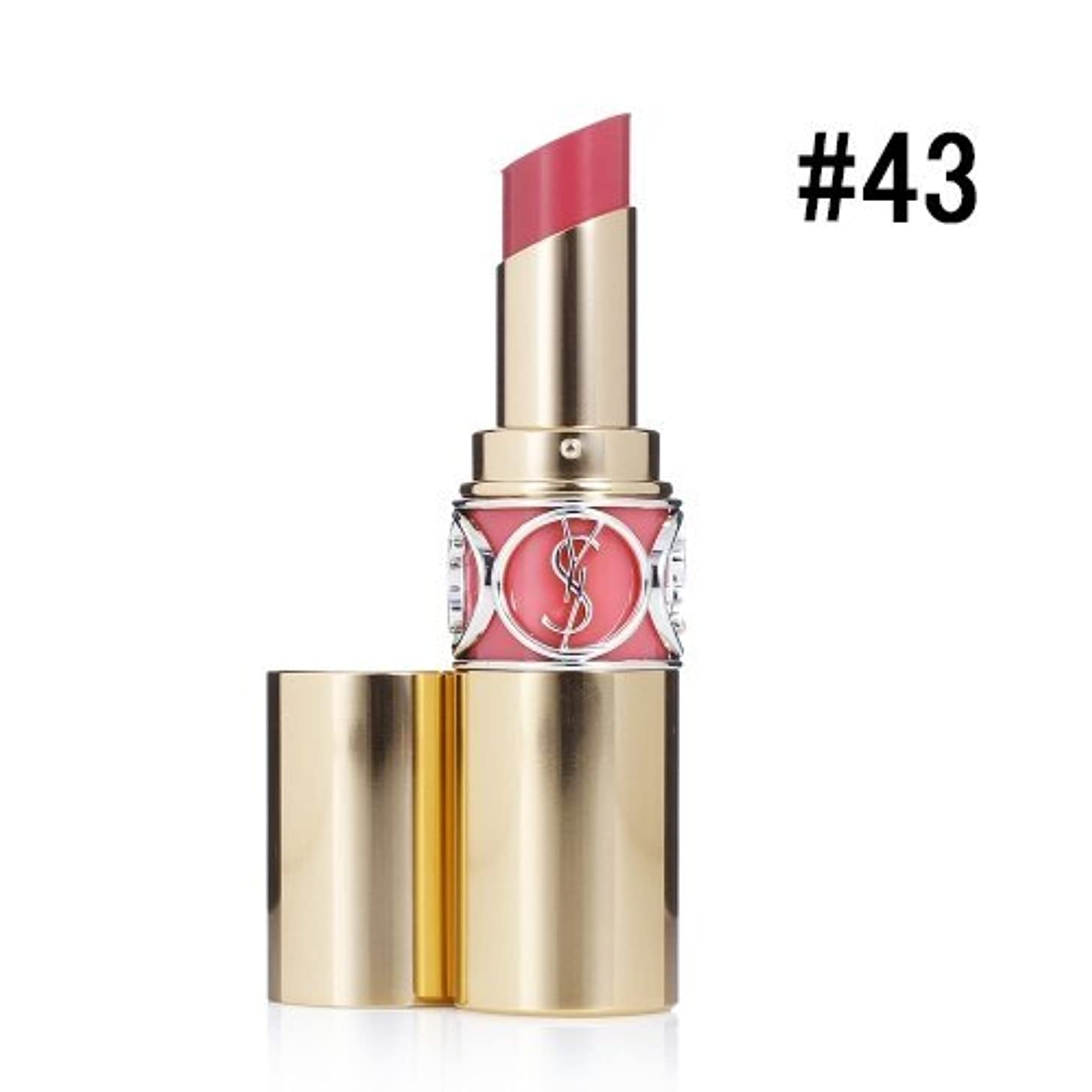 祝福溶接ポルノイヴサンローラン(Yves Saint Laurent) ルージュ ヴォリュプテ シャイン #43 ROSE RIVE GAUCHE 4.5g [並行輸入品]