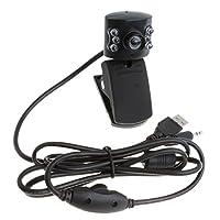 Fenteer マイク付き クリップボード付き 360度 ミニ USB HD ウェブカメラ 自動カラー補正 高品質