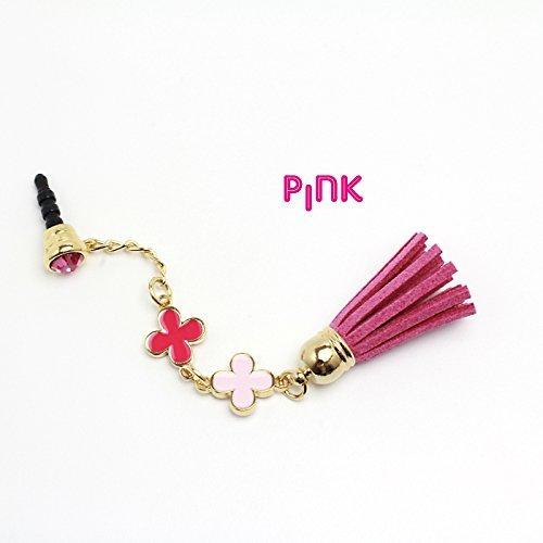 Global Leather earphone jack series - Tussel long - Pink KLFJK-PK