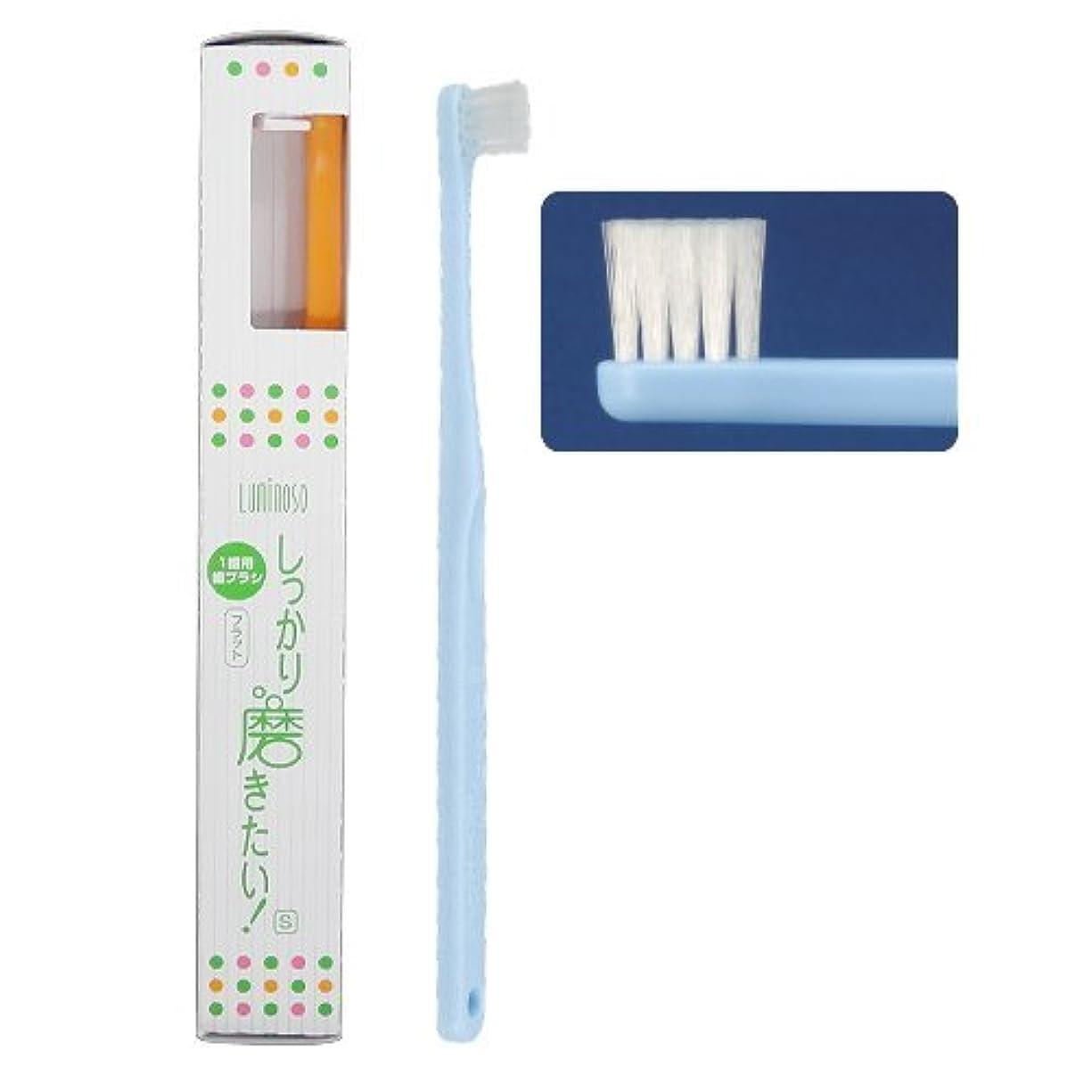 ビジター性差別適度なルミノソ 1歯用歯ブラシ 「しっかり磨きたい!」 フラット ソフト (カラー指定不可) 10本