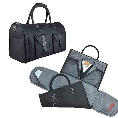a2d84709dd GYSSIEN 2 イン 1 コンバーチブル トラベル ガーメント バッグ キャリー オン スーツ バッグ 荷物 ダッフル メンズ スタンダード