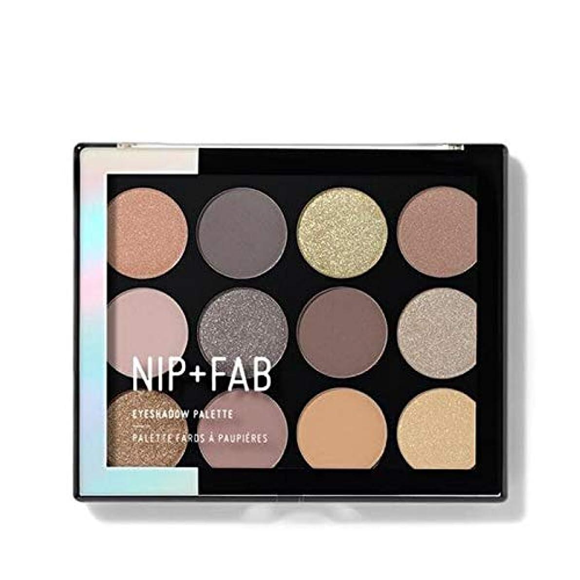 ルーキーネックレットシガレット[Nip & Fab ] アイシャドウパレット12グラム穏やかグラム4を構成するFab +ニップ - NIP+FAB Make Up Eyeshadow Palette 12g Gentle Glam 4 [並行輸入品]